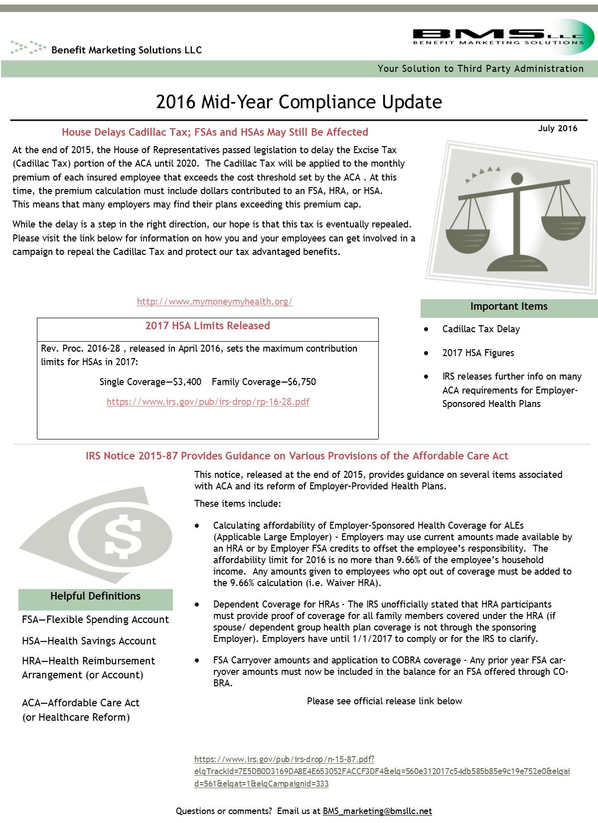 Benefit Marketing Solutions LLC: News